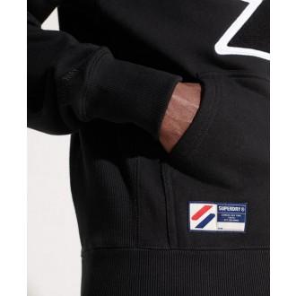 Superdry pánska mikina Sportstyle Logo Che - Čierna