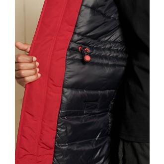 Superdry pánska bunda Everest Parka Coat - Červená