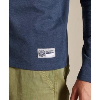 Superdry pánske dlhorukávové tričko T&f - Modrá