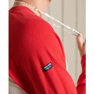 Superdry pánske dlhorukávové tričko Vintage Logo Ac Raglan - Svetlosivá