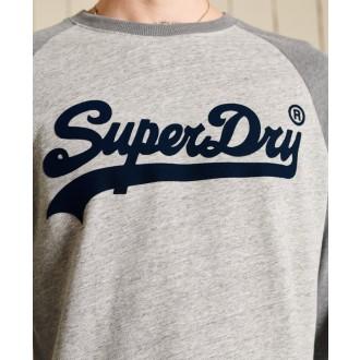 Superdry pánske dlhorukávové tričko Vintage Logo Ac Raglan - Sivá