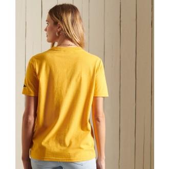 Superdry dámske tričko Vl Source - Žltá