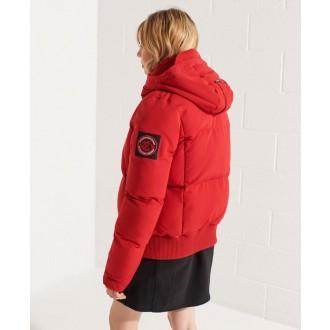 Superdry dámska zimná bunda Sportstyle Everest Bomber - Červená