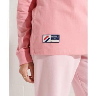 Superdry dámska mikina Sportstyle Logo Che Ls - Ružová