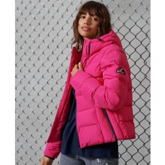 Superdry dámska bunda Spirit Sports Puffer - Ružová