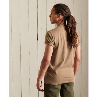 Superdry pánske tričko Organic Cotton Vintage Logo Embroidered - Hnedá