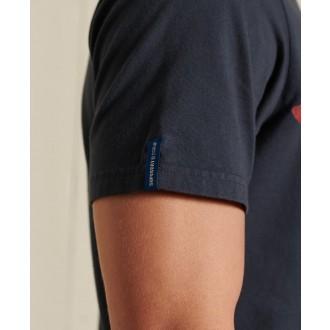 Superdry pánske tričko Vintage Logo American - Tmavomodrá