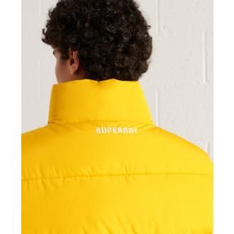 Superdry pánska zimná vesta Sports Puffer - Žltá