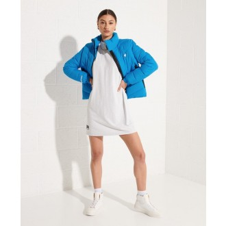 Superdry dámska zimná bunda Non Hooded Sports Puffer - Modrá
