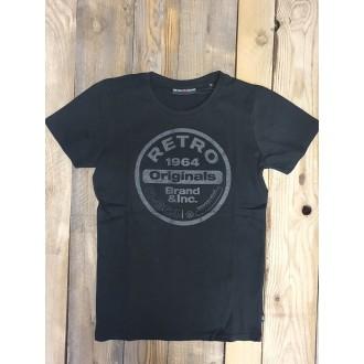 Retrojeans pánske tričko ETNA - Čierna
