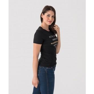 Retrojeans dámske tričko ENCIE - Čierna