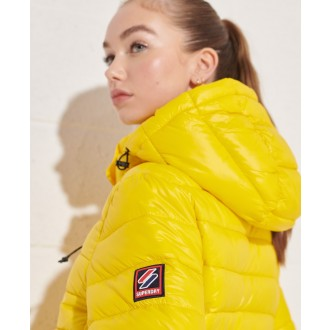Superdry dámska bunda Shine Fuji 2.0 - Žltá