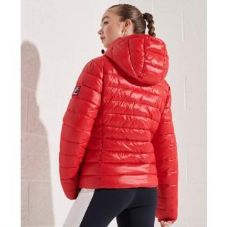 Superdry dámska bunda Shine Fuji 2.0 - Červená