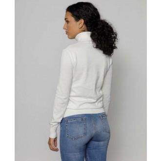 Devergo dámsky pletený pulóver - Biela