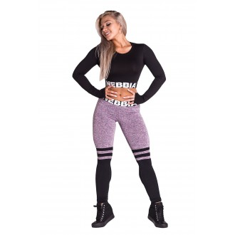 NEBBIA Legíny Over the knee - Purple 286