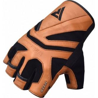 RDX S12 Fitness rukavice - Hnedé