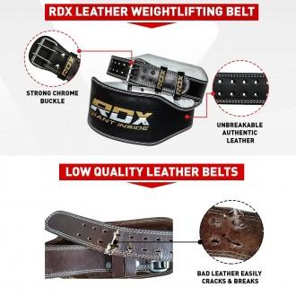 """RDX 6"""" Kožený Fitness opasok"""