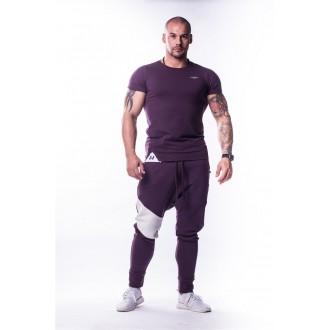NEBBIA Muscle Back tričko 728 - Burgundy