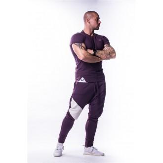 NEBBIA Muscle Back tričko 728 Burgundy