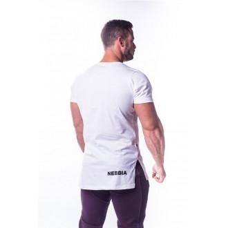 NEBBIA Atheltic Logo tričko 730 Biele