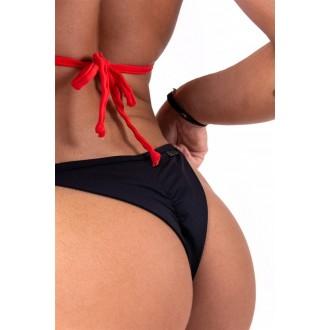 Nebbia Šnurovacie scrunch butt bikini 673 Spodný diel - Čierne
