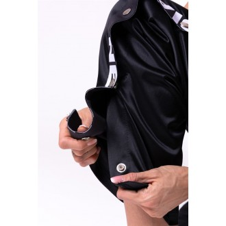 Nebbia Street style Button Up Track tepláky 685 - Čierne