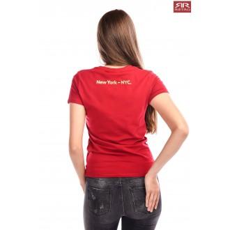 Dámske tričko Retro Jeans Ariana - Bordové