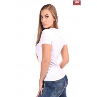 Dámske tričko Retro Jeans Emerson - Biele