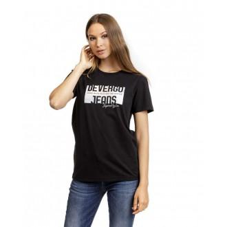 Devergo Dámske Tričko Čierne