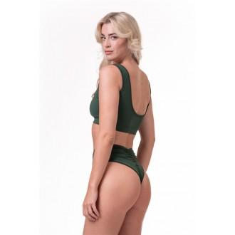 NEBBIA Bralette Miami sporty bikini 554 – Zelená