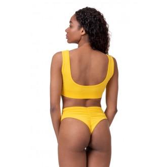 NEBBIA Bralette Miami sporty bikini 554 – Žltá