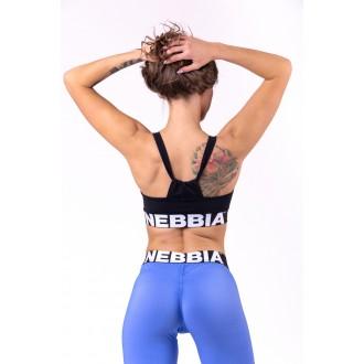 Nebbia Dámska športová podprsenka Athletic Cut Out 695 Čierna
