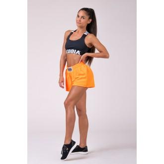 Nebbia dámske šortky 519 - Neon oranžová