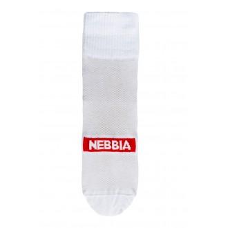 Nebbia EXTRA MILE crew ponožky - Biele