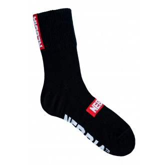 Nebbia EXTRA MILE crew ponožky - Čierne