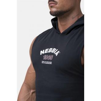 Nebbia Legend-approved tielko s kapucňou 191 - Čierne