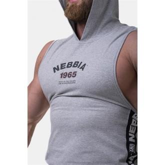 Nebbia Legend-approved tielko s kapucňou 191 - Sivé