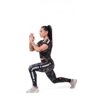 NEBBIA legíny High-waist performance 567 - Čierne