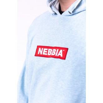 Nebbia mikina s kapucňou Red Label 149 - Bledomodrá