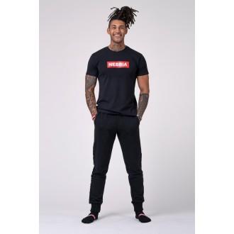 Nebbia Pánske tričko 593 - Čierne
