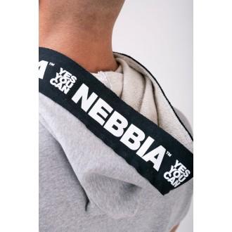Nebbia Reg top s kapucňou 175 - Sivá
