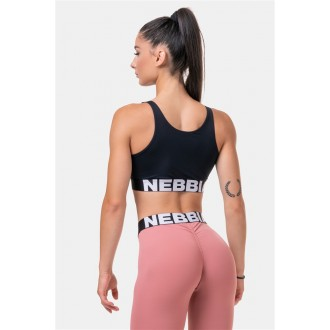 NEBBIA Smart Zip športová podprsenka 578 - Čierna