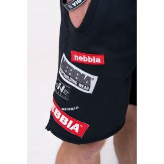 Nebbia šortky s nášivkami 178 - Čierne