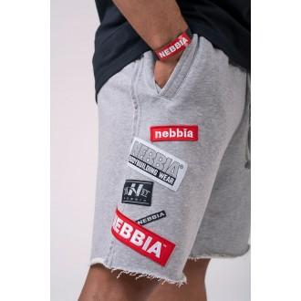 Nebbia šortky s nášivkami 178 - Sivé
