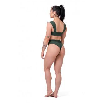 NEBBIA spodný diel bikín High-waist retro 555 – Zelená