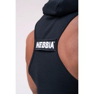 NEBBIA Tielko s kapucňou 173 - Čierne