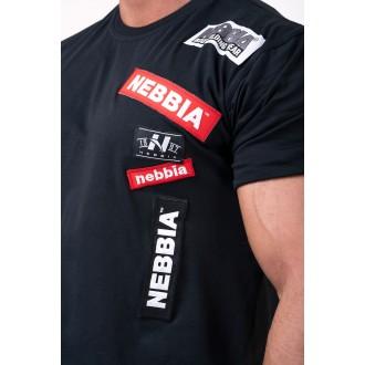 NEBBIA tričko Labels 171 - Čierne