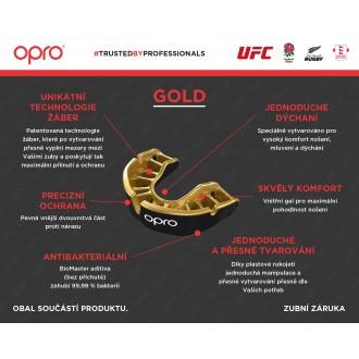 Opro Gold UFC Chránič na zuby - Červený