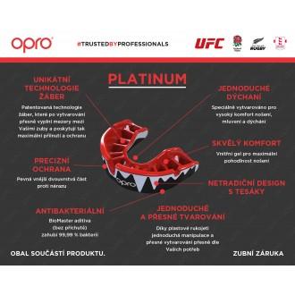 Opro Platinum UFC Chránič na zuby - Biele Zuby