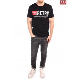 Pánske tričko Retro Jeans Ermin - Čierne